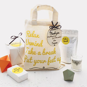 Personalised Pamper 'Thank You' Bag - leaving gifts
