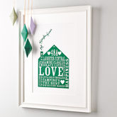 Personalised Our Home Print - anniversary gifts