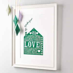 Personalised Our Home Print - best gifts under £50