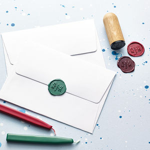 Personalised Monogram Wax Seal Stamp - luxury wrap