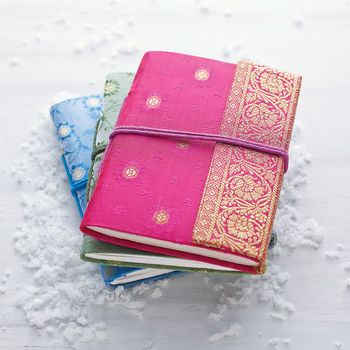 Fair Trade Sari Notebook