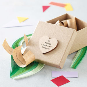 Personalised '10 Things I Love About…' Box - gifts under £25