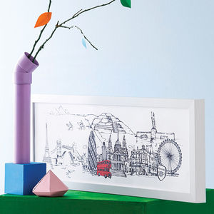 Personalised Your Skyline Illustration Print - for your other half