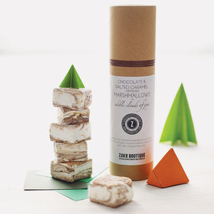Chocolate And Salted Caramel Marshmallows - stocking fillers under £15