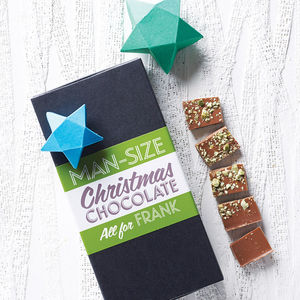 Personalised 'Man Size' Chocolate Bar Box Set - secret santa gifts