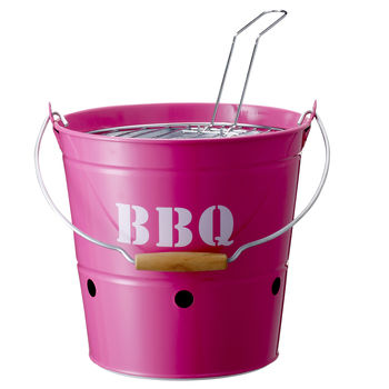 Barbecue Bucket In Neon Pink