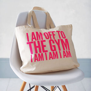'Off To The Gym' Bag - for sisters