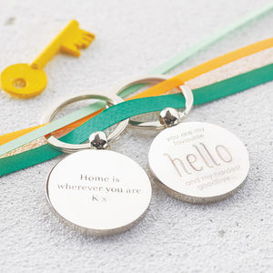 Personalised 'My Favourite Hello' Key Ring - for him