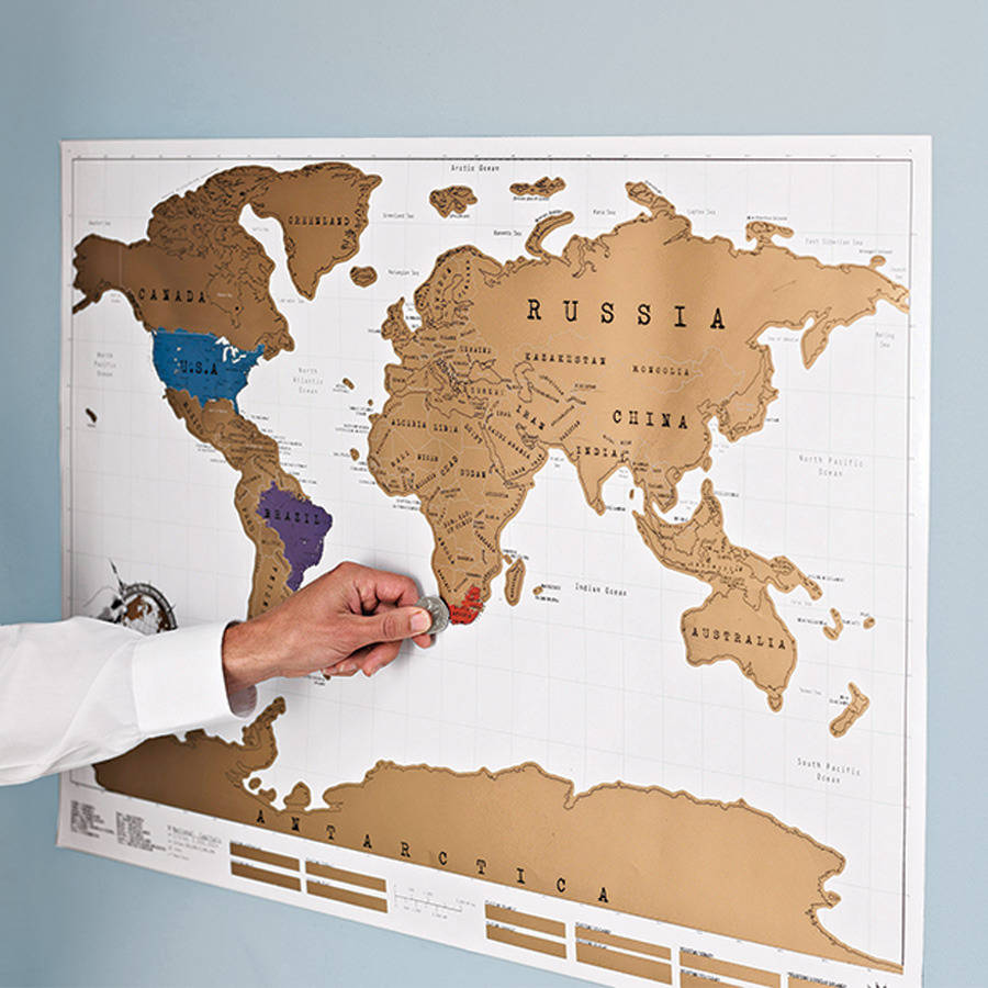 scratch map original world map poster by luckies. Black Bedroom Furniture Sets. Home Design Ideas