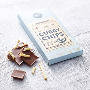 Curry And Chips Milk Chocolate Bar - gifts for him