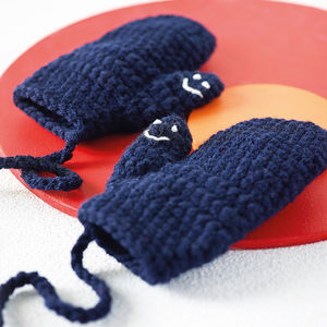 Child's Hidden Message Mittens - cosy clothing