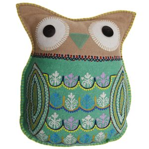 Owl Cushion With Embelishment