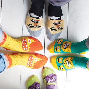 Set Of Four Comedy Socks - gifts under £25 for him