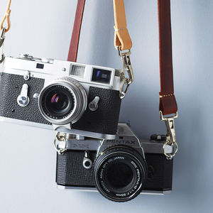Handmade Leather Camera Strap - gifts for him