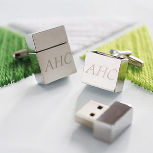 Personalised Memory Stick Cufflinks - cufflinks