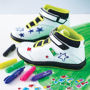 Child's Customisable Whiteboard Trainers - best gifts for girls