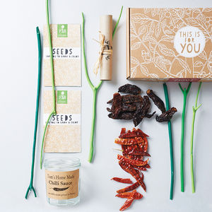 Grow Your Own Chilli Sauce Gift Kit - gifts for him