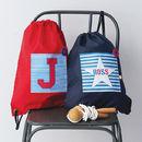 Boy's Personalised Striped Waterproof Kit Bag