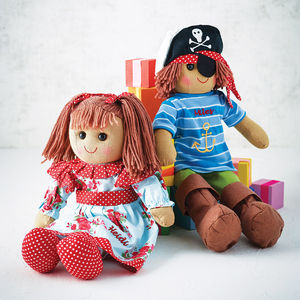 Girls' Personalised Rag Doll - for over 5's