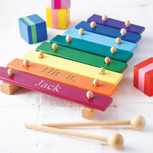 Personalised Wooden Xylophone - gifts for babies