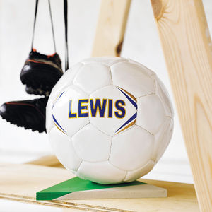 Personalised Hand Stitched Football - shop the christmas catalogue