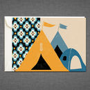 Tents Greetings Card