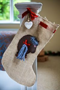Personalised Hessian Pony Stocking - stockings & sacks
