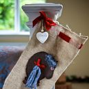 Personalised Hessian Pony Stocking