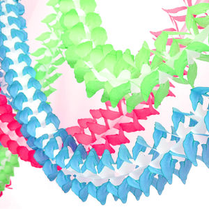 Tissue Paper Garland - decorative accessories