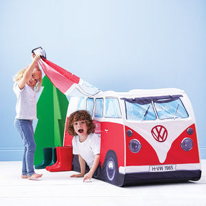 Child's Personalised Campervan Tent - games