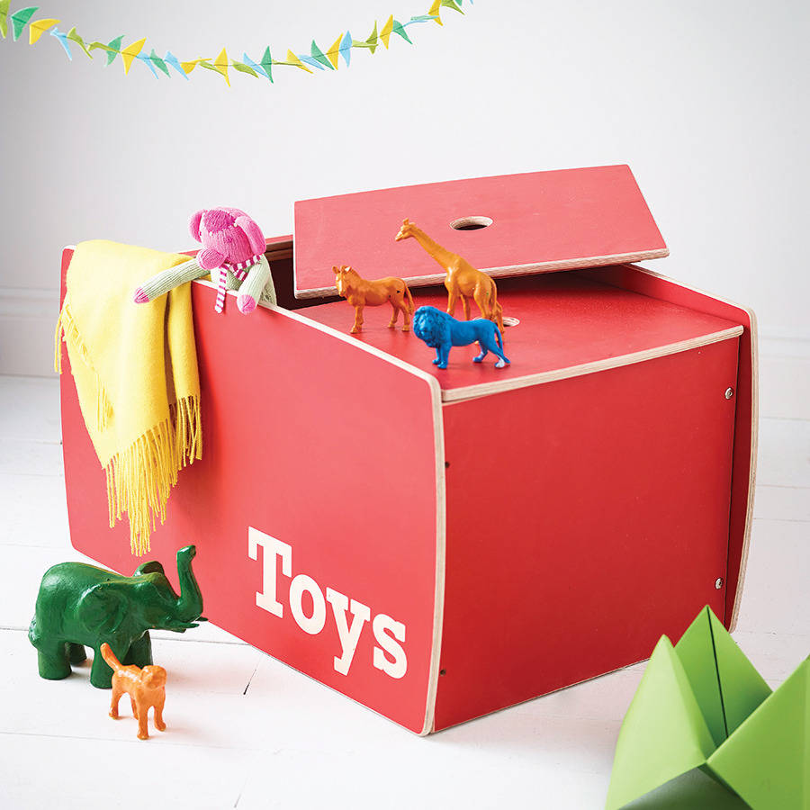 personalised wooden toy box by childs co. Black Bedroom Furniture Sets. Home Design Ideas
