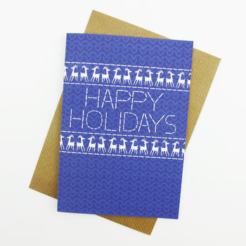 Happy Holiday's Christmas Jumper Card