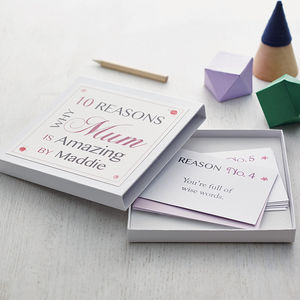 Personalised Best Mum Notes - cards