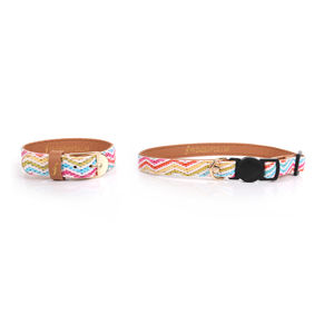 Chatty Catty Cat Collar And Matching Bracelet - walking
