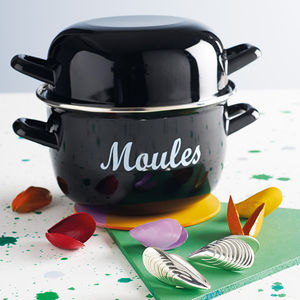 Enamel Mussels Pot - last-minute christmas gifts for her