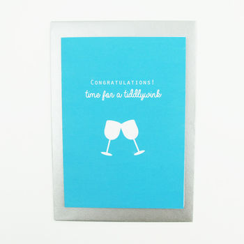 Congratulations Time For A Tiddlywink Card