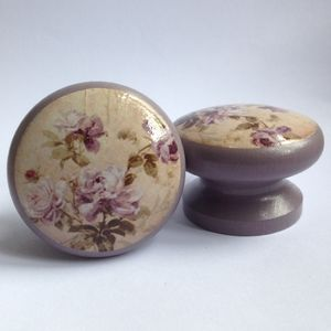 Vintage Rose Door Drawer Cupboard Knob