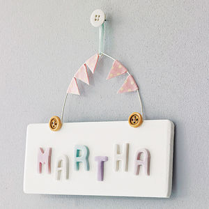 Personalised Vintage Style Door Sign - gifts for babies