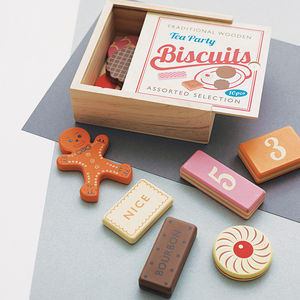 Wooden Biscuit Counting Game - stocking fillers for babies & children