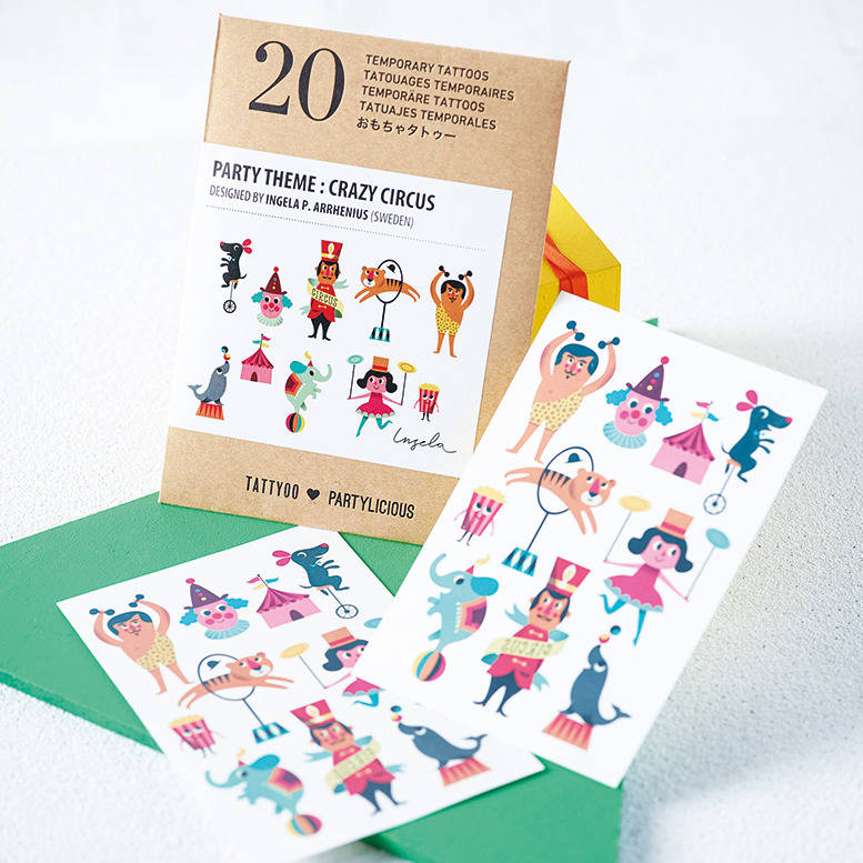 children\'s temporary tattoos party pack by artful kids ...