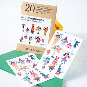 Children's Temporary Tattoos Party Pack