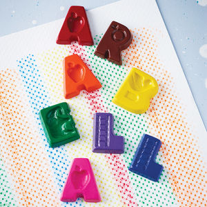 Coloured Letter Name Crayons - gifts for children