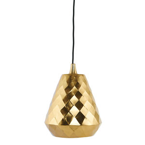Brass Pendant Lamp Complete With Textile Cord - office & study