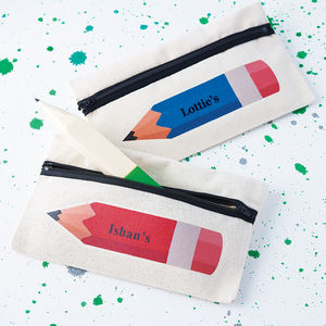 Personalised Coloured Pencil Case - for children