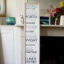 The Shipping Forecast Print 150cm