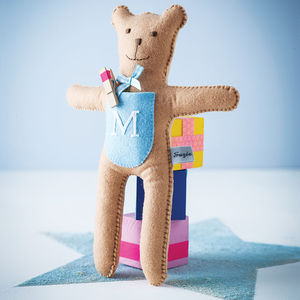 Monogram Pocket Bear - gifts for babies