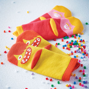 Kids Funny Faces Slipper Socks - shop the christmas catalogue