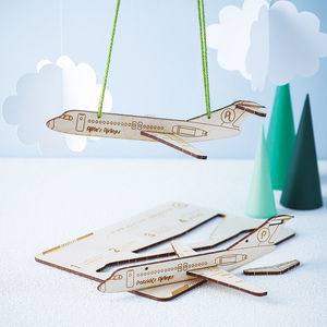 Personalised Plywood Aeroplane Kit - little extras