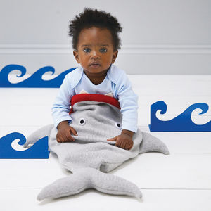 Knitted Shark Sleeping Bag - toys & games