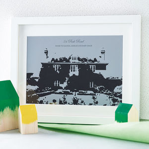 Personalised Home Silhouette Print - shop by price